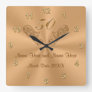 Gorgeous Personalized 50th Anniversary Gifts Wall Clock