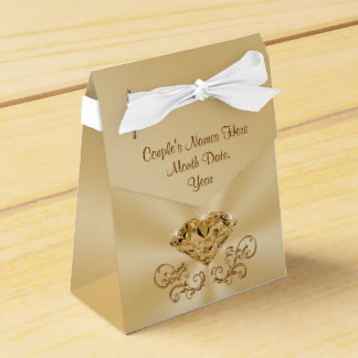 Gorgeous Personalized 60th Anniversary Favor Boxes