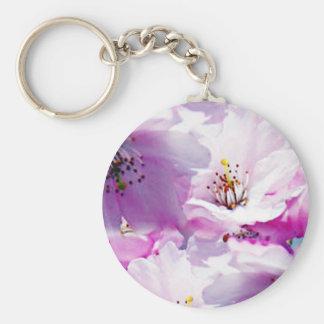 Gorgeous pink blossom wedding gift basic round button key ring
