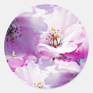 Gorgeous pink blossom wedding gift sticker