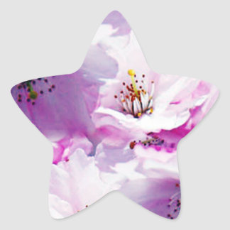 Gorgeous pink blossom wedding gift stickers