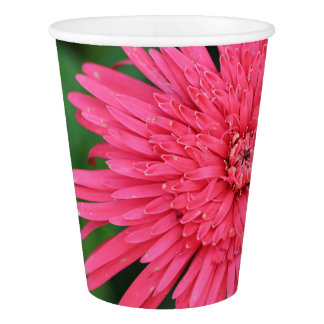 Gorgeous Pink / Coral Flower Paper Cup