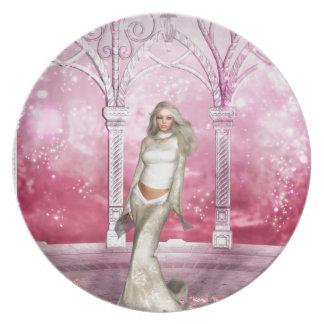 Gorgeous Pink Gazebo Elf Plate