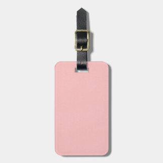 Gorgeous Pink Leather Texture Luggage Tag