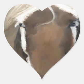 Gorgeous Pony Heart Stickers