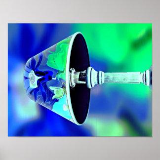 Gorgeous Popular Blue Green Decorative lamp Poster
