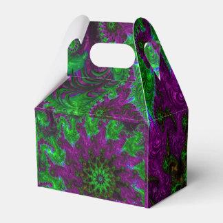 Gorgeous Purple and Lime Fractal Favour Box