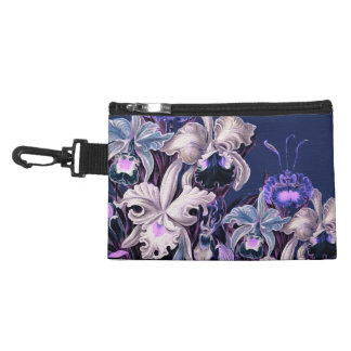 Gorgeous Purple Blue Vintage Flowers Accessories Bag
