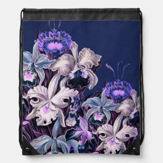 Gorgeous Purple Blue Vintage Flowers Backpack