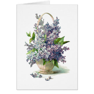 Gorgeous Purple Lavendar Lilac Basket Card