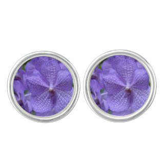 Gorgeous Purple Orchid Cuff Links