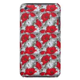 Gorgeous red poppies summer flowers pattern iPod touch cases
