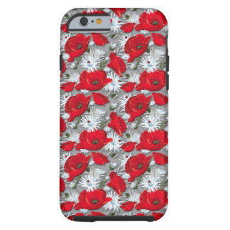Gorgeous red poppies summer flowers pattern tough iPhone 6 case