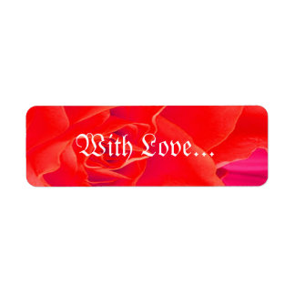 Gorgeous Red Red Rose X Return Address Label