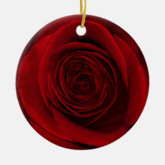 Gorgeous Red Rose Macro Photo Ornament