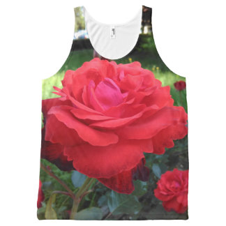 Gorgeous Red Roses All-Over Print Tank Top