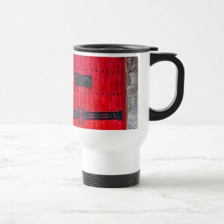 Gorgeous Red Rustic Wood Door Coffee Mug