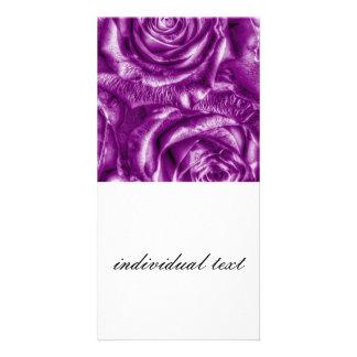 Gorgeous Roses,purple Photo Card