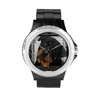Gorgeous Rottweiler Dog face personalized Wrist Watches