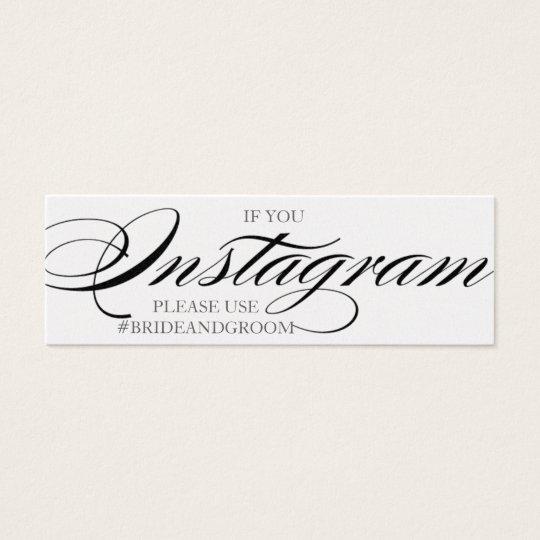 Gorgeous script font wedding instagram cards