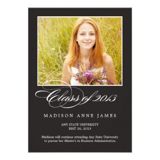 Gorgeous Script Graduation Invitation Announcement Personalized Announcements