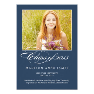 Gorgeous Script Graduation Invitation Announcement Invitations