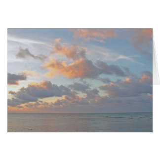 GORGEOUS SKY AND CLOUDS OVER CARIBBEAN GREETING CARD