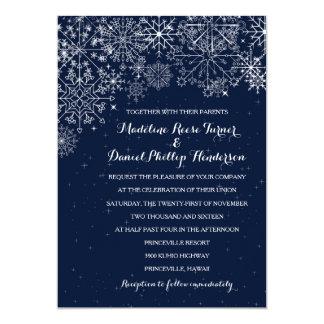 Gorgeous Snowflakes - Winter Wedding Invitations