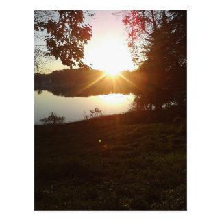 Gorgeous Sunrise Over Elk Lake Vertical Post Card