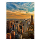 Gorgeous Sunset in Manhattan, New York City Postcard