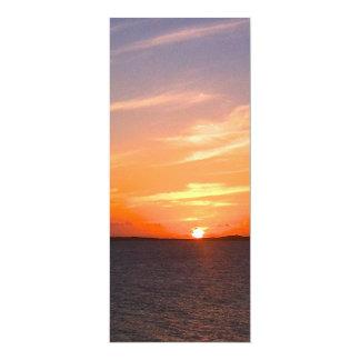 Gorgeous Sunset | Turks and Caicos Photo 10 Cm X 24 Cm Invitation Card