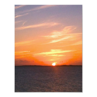 Gorgeous Sunset   Turks and Caicos Photo 11 Cm X 14 Cm Invitation Card