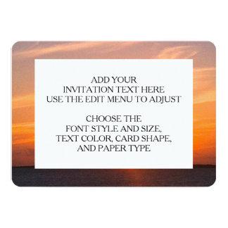 Gorgeous Sunset   Turks and Caicos Photo 13 Cm X 18 Cm Invitation Card