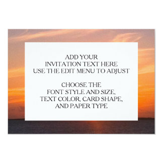 "Gorgeous Sunset | Turks and Caicos Photo 5"" X 7"" Invitation Card"