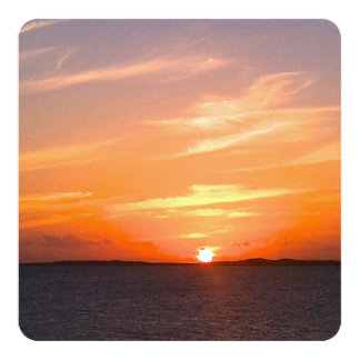 "Gorgeous Sunset | Turks and Caicos Photo 5.25"" Square Invitation Card"