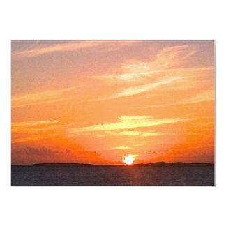 Gorgeous Sunset | Turks and Caicos Photo 13 Cm X 18 Cm Invitation Card