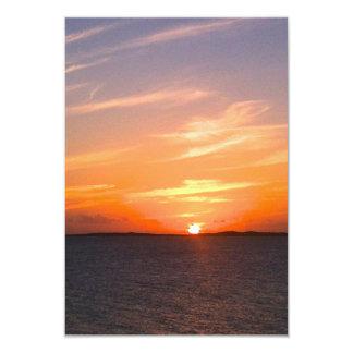 Gorgeous Sunset   Turks and Caicos Photo 9 Cm X 13 Cm Invitation Card
