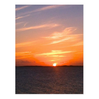 Gorgeous Sunset   Turks and Caicos Photo Postcard