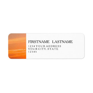 Gorgeous Sunset   Turks and Caicos Photo Return Address Label