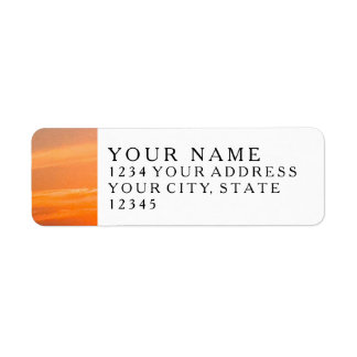 Gorgeous Sunset | Turks and Caicos Photo Return Address Label