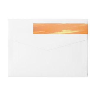 Gorgeous Sunset | Turks and Caicos Photo Wraparound Return Address Label