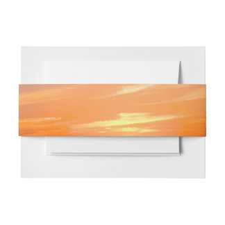 Gorgeous Sunset | Turks and Caicos Photo Invitation Belly Band