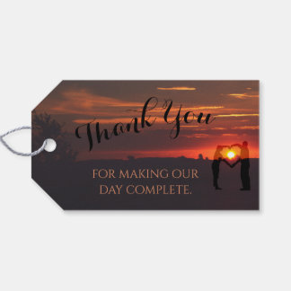 Gorgeous Sunset Wedding Favor Gift Tags