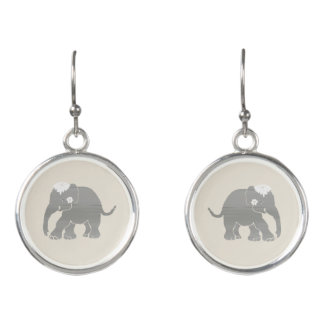 Gorgeous sweet vintage elephant wedding bride's earrings