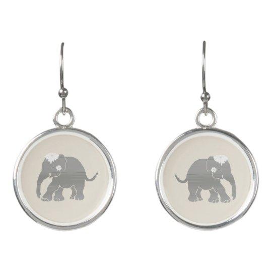 Gorgeous sweet vintage elephant wedding bride's earrings