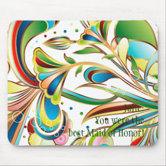 Gorgeous Swirling Flowers Mouse Pad