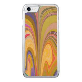 Gorgeous Swirls of Color Carved iPhone 7 Case