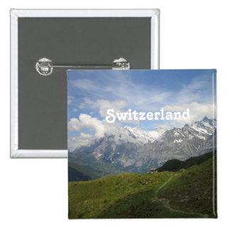 Gorgeous Swiss Landscape 15 Cm Square Badge