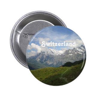 Gorgeous Swiss Landscape 6 Cm Round Badge