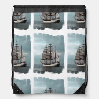 Gorgeous Tall Ship Drawstring Backpacks